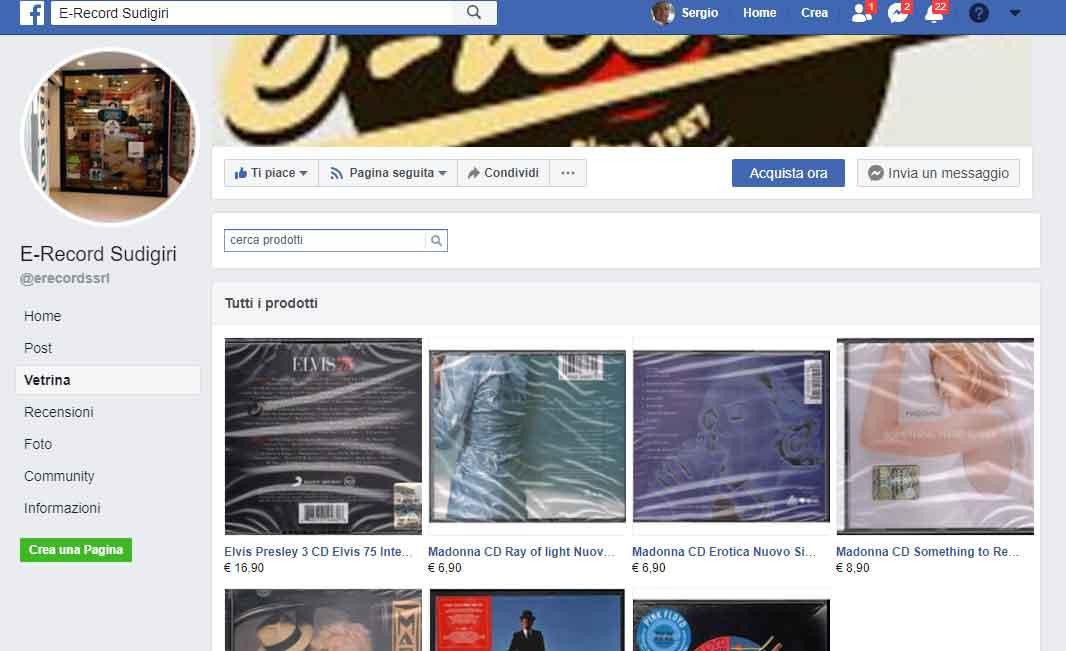 E-record Facebook