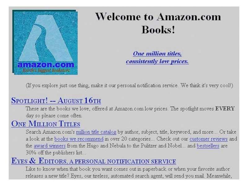 amazon homepage storica 1995